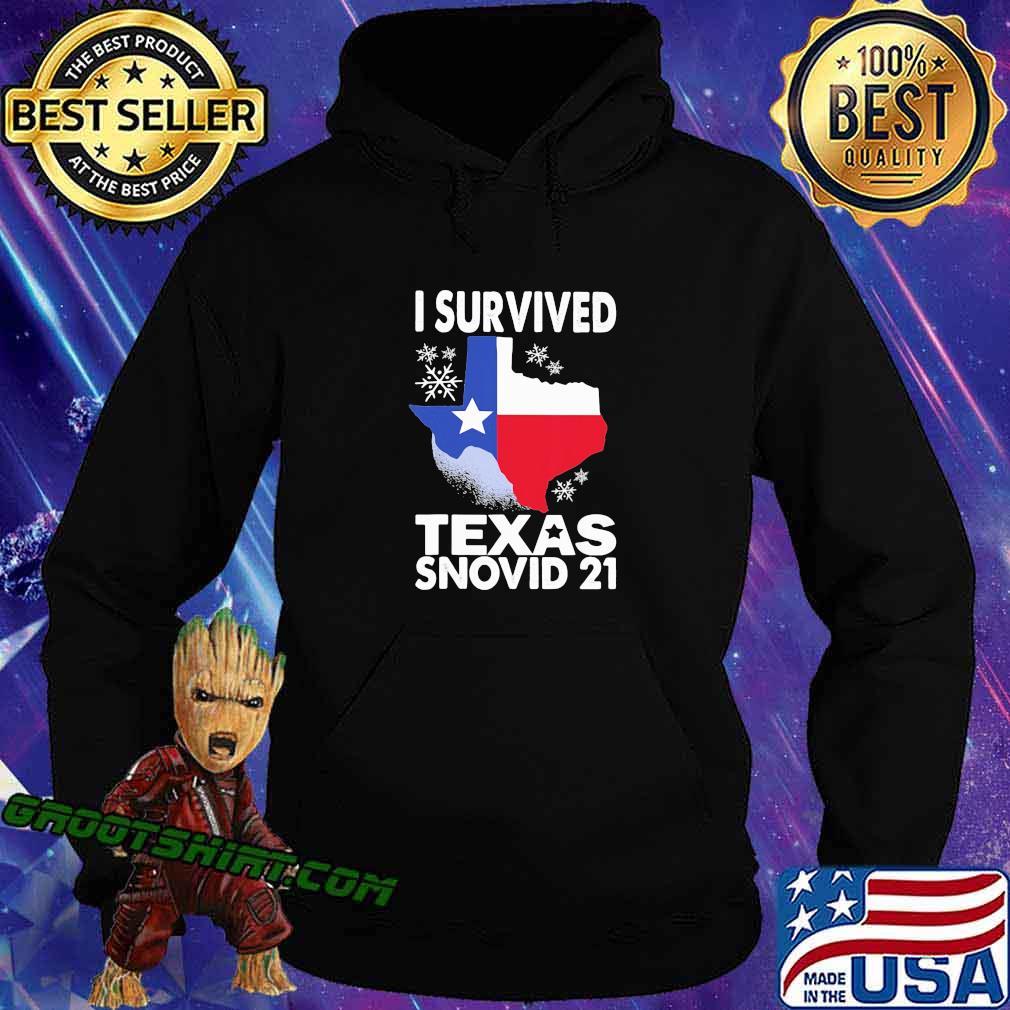 I Survived Texas Snovid 21 Covid 19 Flag Shirt Hoodie