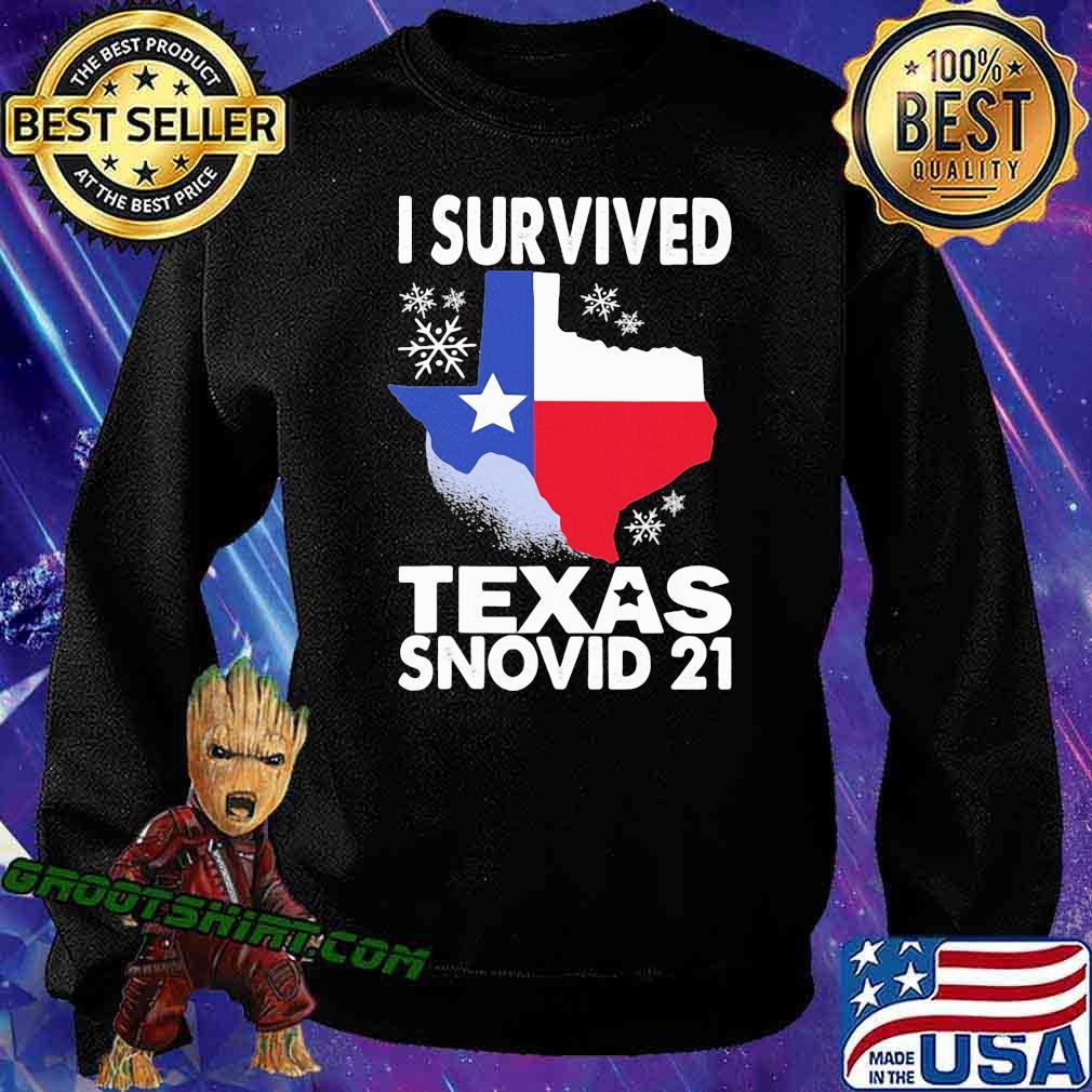 I Survived Texas Snovid 21 Covid 19 Flag Shirt Sweatshirt