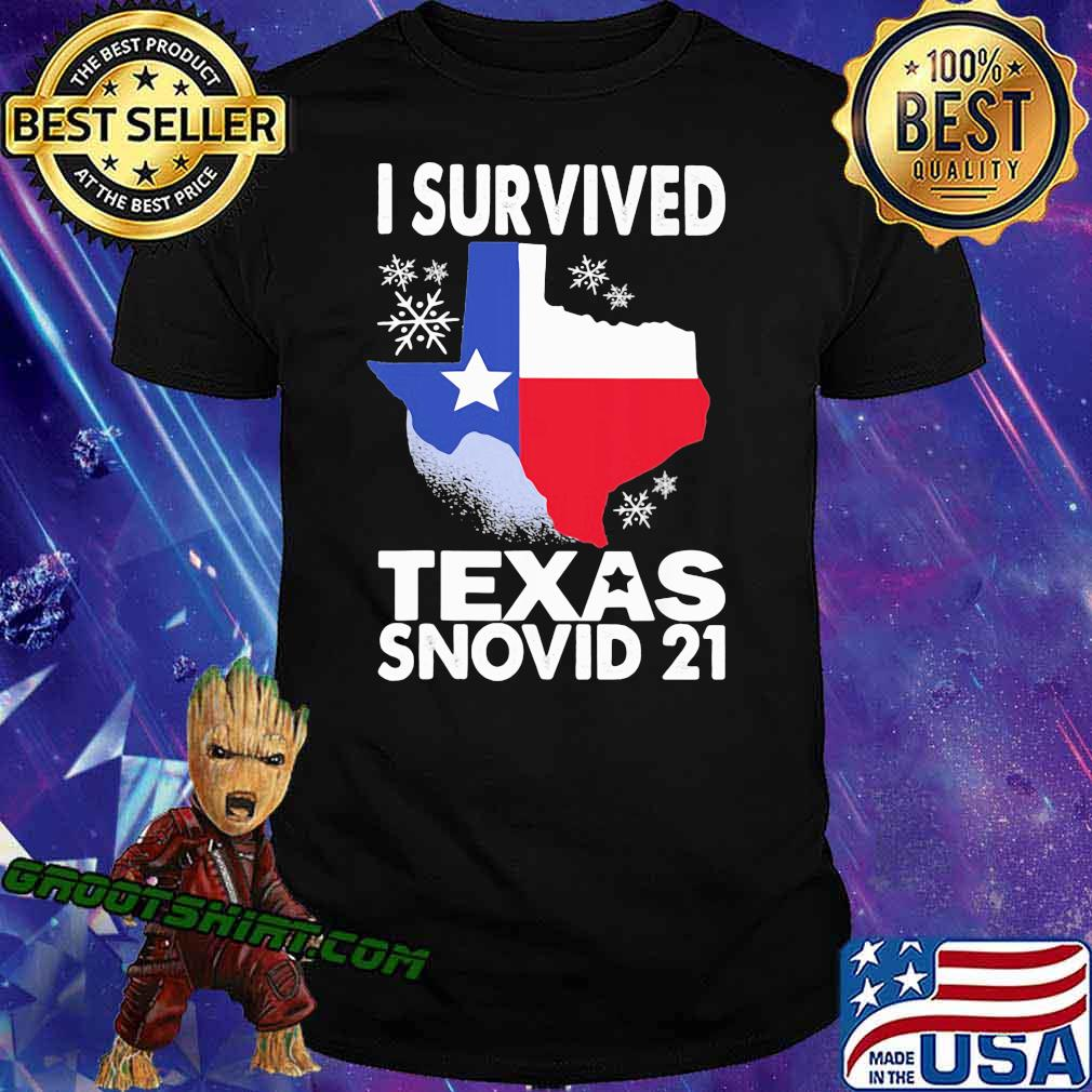 I Survived Texas Snovid 21 Covid 19 Flag Shirt
