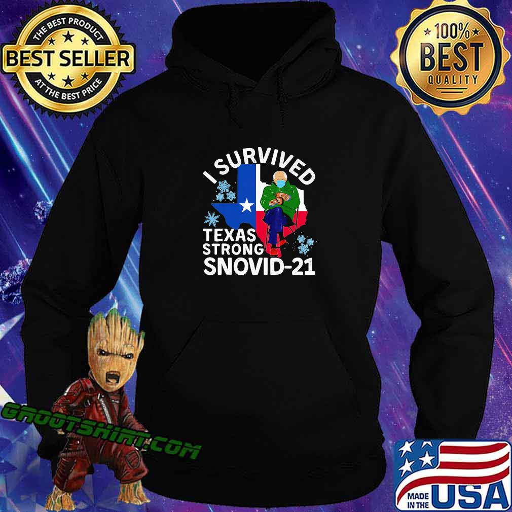 I Survived Texas Strong Snovid 21 Old Man Wear Mask Shirt Hoodie