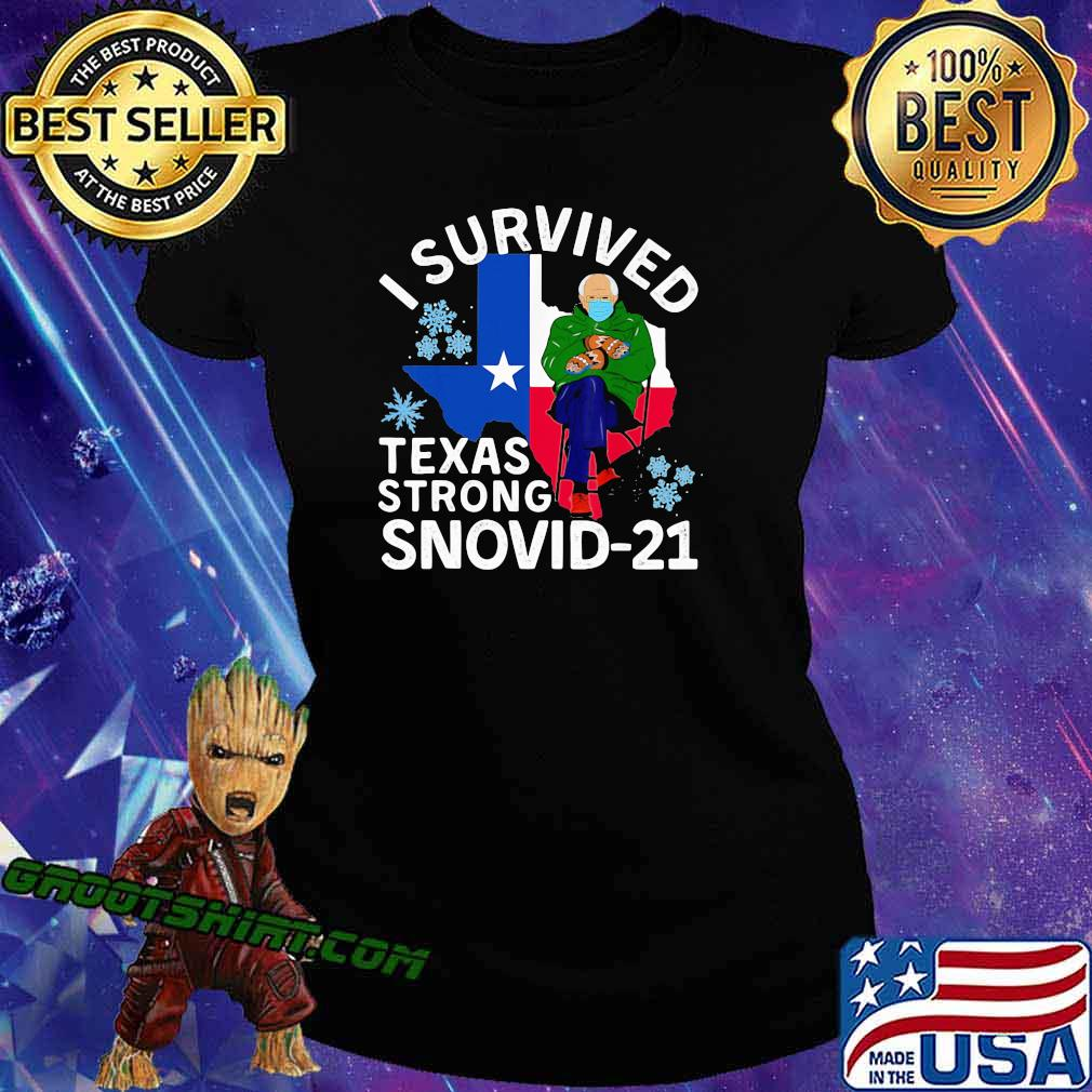 I Survived Texas Strong Snovid 21 Old Man Wear Mask Shirt Ladiestee