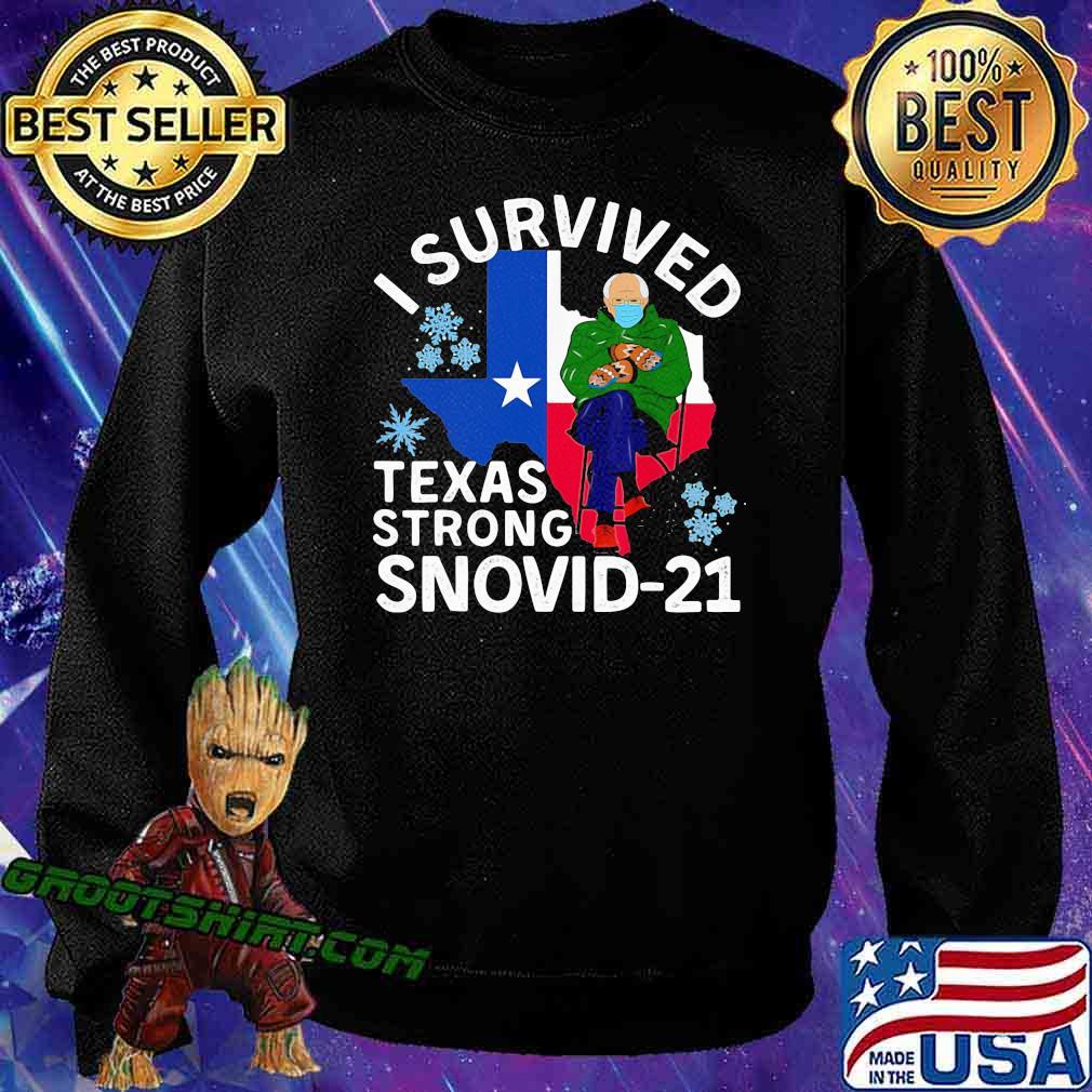 I Survived Texas Strong Snovid 21 Old Man Wear Mask Shirt Sweatshirt