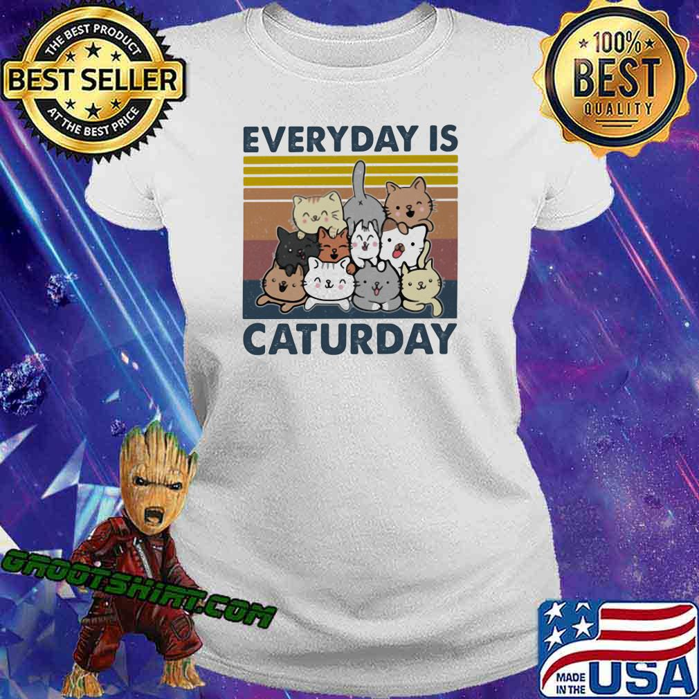 Everyday Is Caturday Vintage Shirt Ladiestee