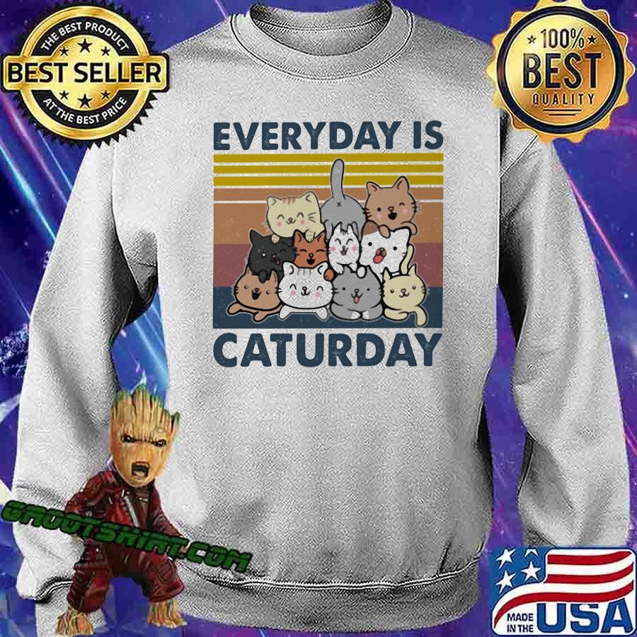 Everyday Is Caturday Vintage Shirt Sweatshirt