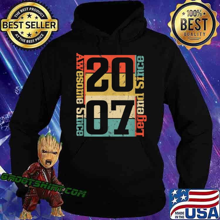 13th Birthday. Awesome Since 2007 Funny Gift Idea Shirt Hoodie