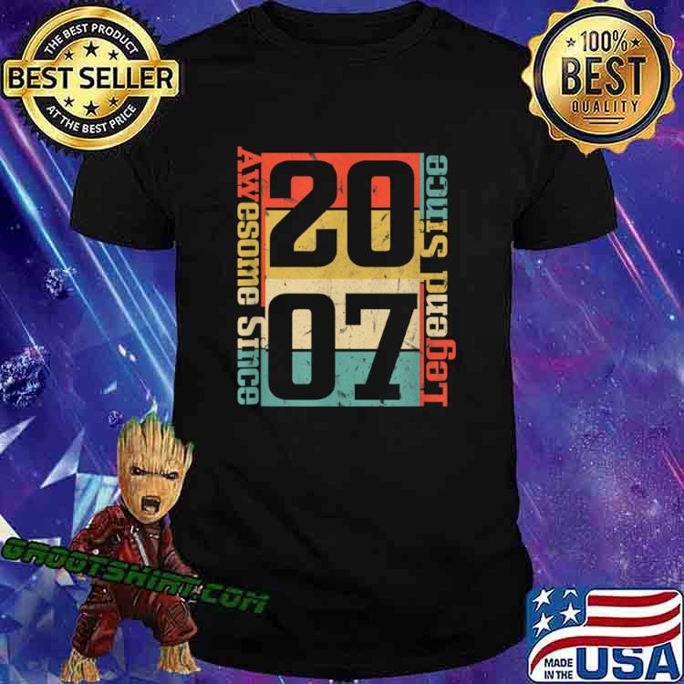 13th Birthday. Awesome Since 2007 Funny Gift Idea Shirt