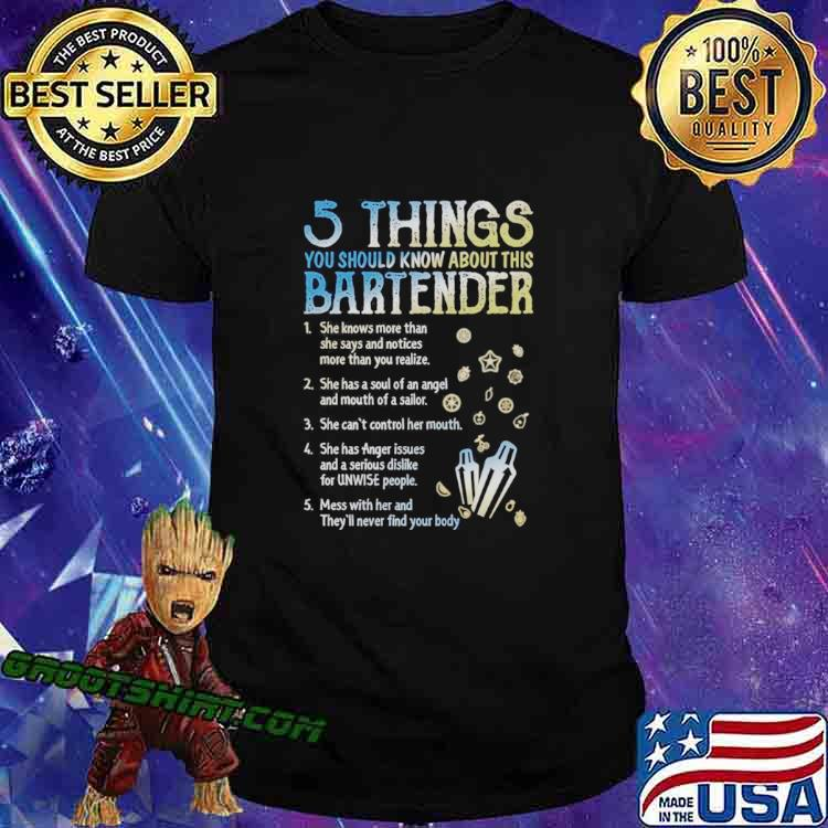 5 Things You Should Know About This Bartender shirt