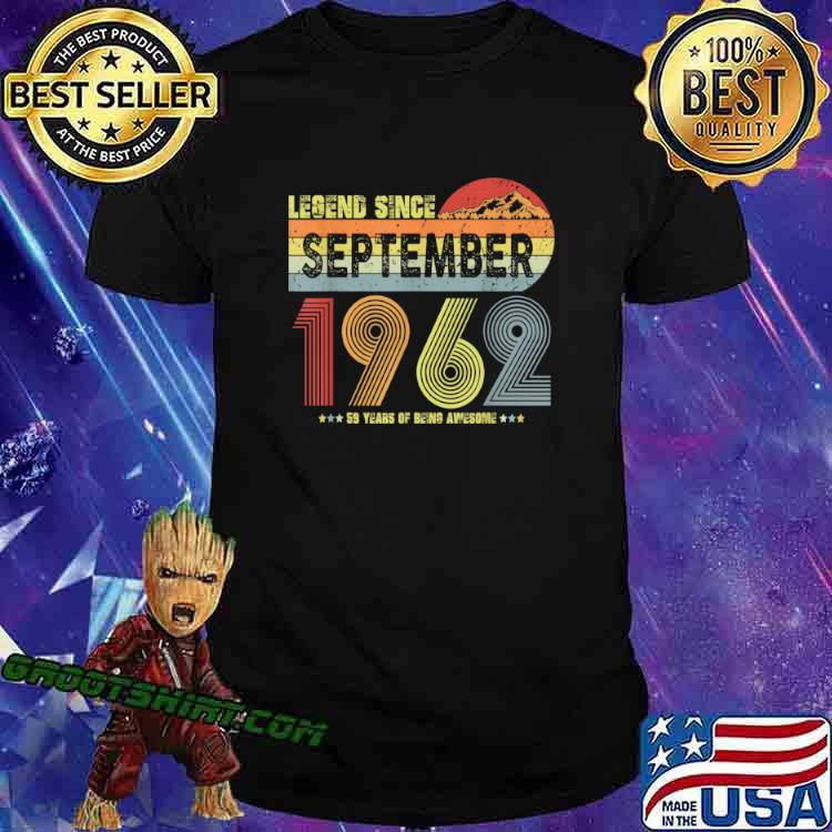 59th Birthday Legend Since September 1962 Vintage 59 Yrs Old Shirt