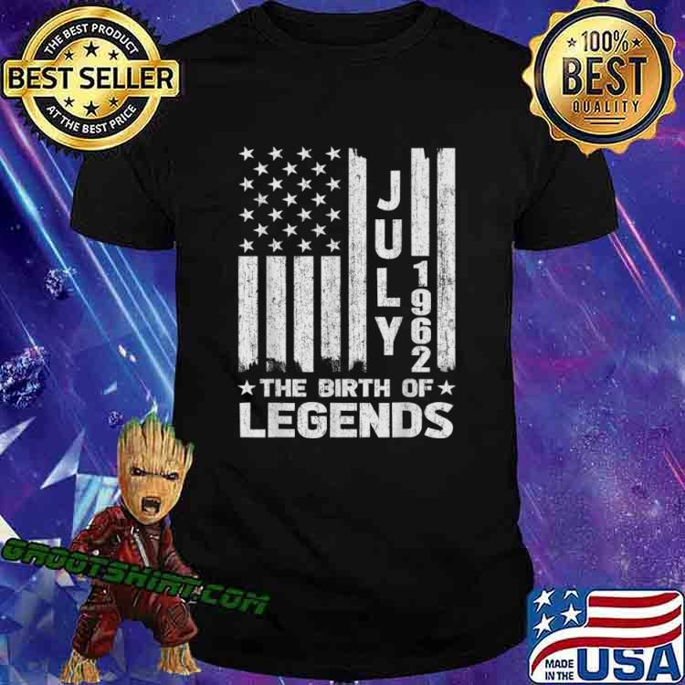 59th Birthday Shirt July 1962 The Birth Of Legends Shirt