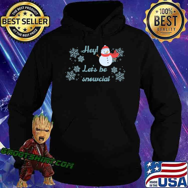 Let's be snowcial social distancing funny Christmas Shirt Hoodie