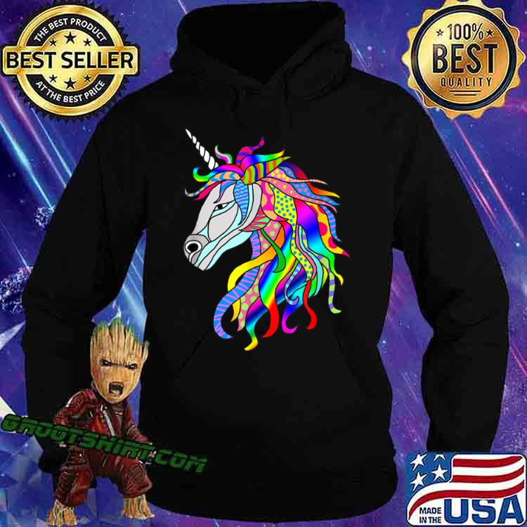 Multicolor Fantastic Unicorn Shirt Hoodie