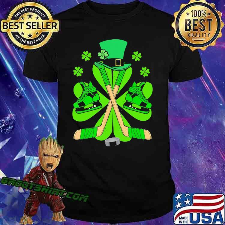Hockey Hat Leprechaun Irish Shirt