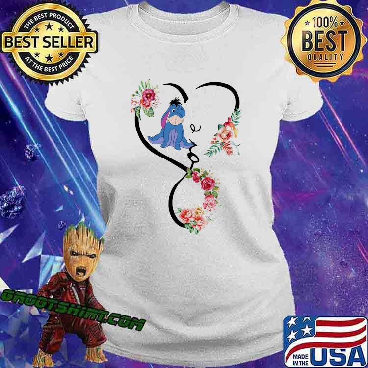 Love Eeyore Flower Shirt Ladiestee
