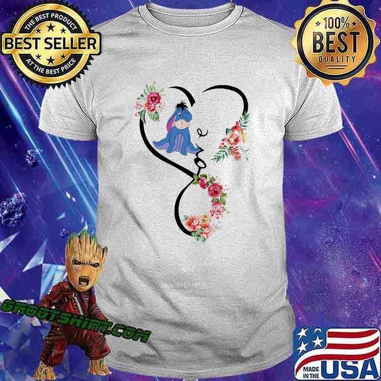 Love Eeyore Flower Shirt