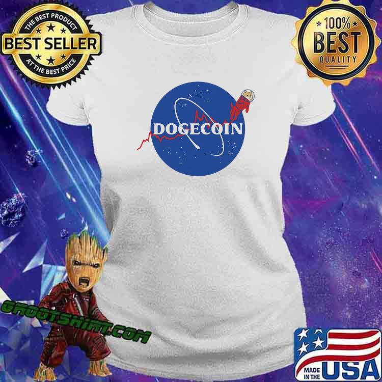 Official Dogecoin Nasa Shirt Ladiestee