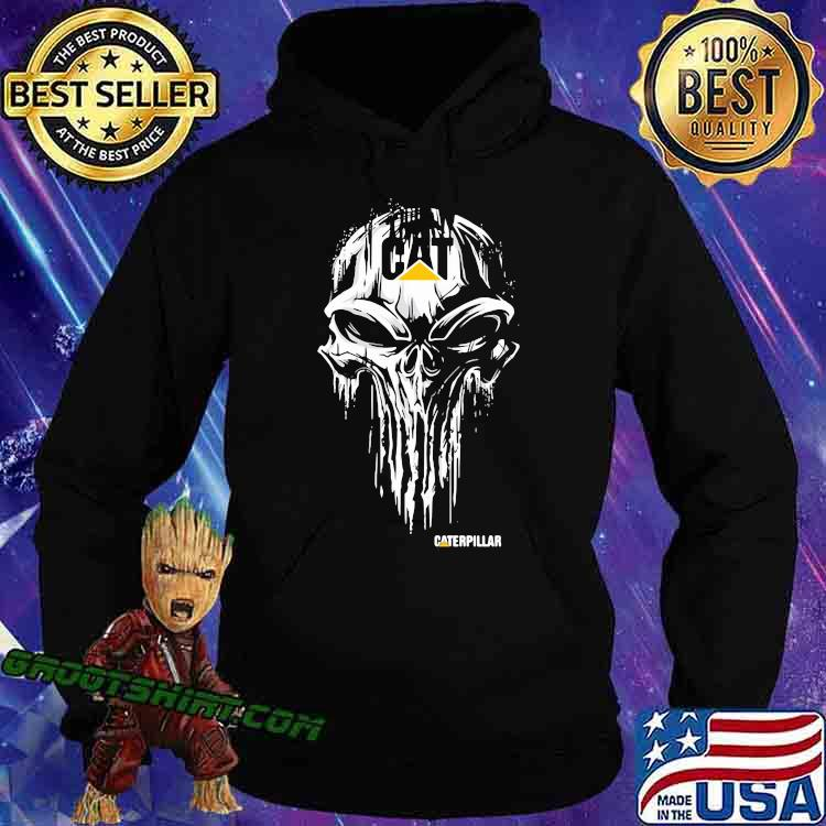 Punisher With Caterpillar Logo Shirt Hoodie
