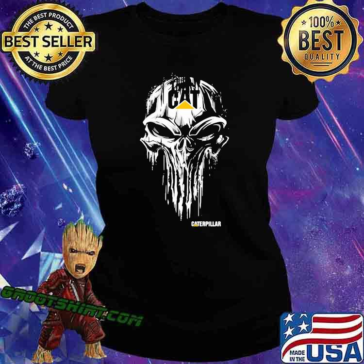 Punisher With Caterpillar Logo Shirt Ladiestee
