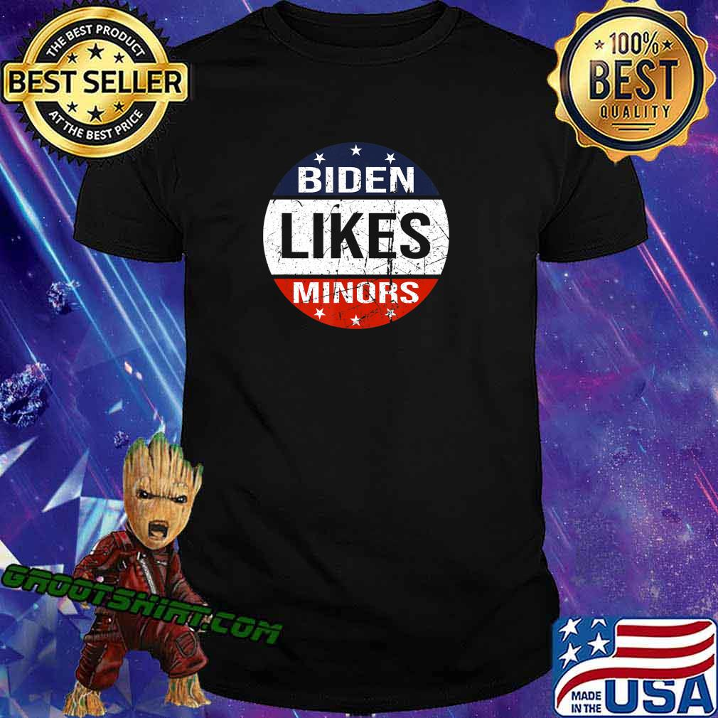 American flag circle Biden Likes Minors 2020 Election T-Shirt