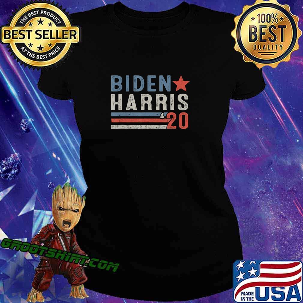 Biden Harris Retro Vintage Design Biden Harris 2020 T-Shirt Ladiestee
