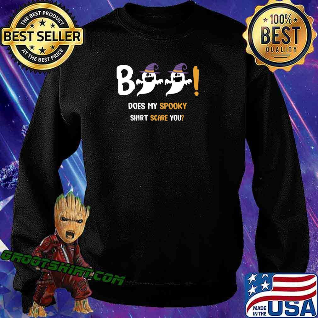 Boo Does My Spooky Shirt Scare You Halloween Boys Girls Gift T-Shirt Sweatshirt
