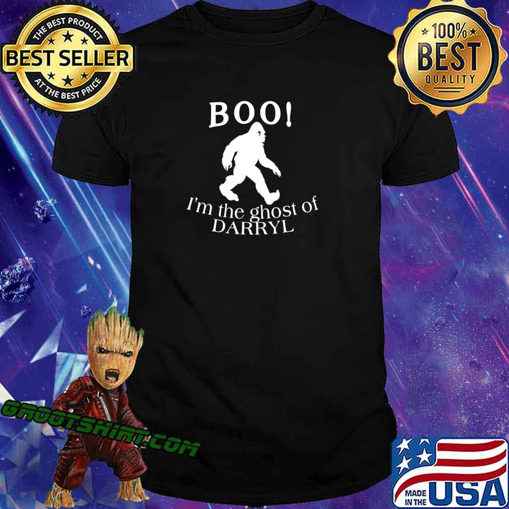BOO I'm the Ghost of Darryl Funny Halloween Bigfoot T-Shirt