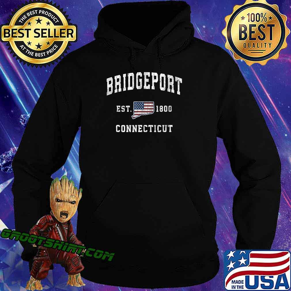 Bridgeport Connecticut CT Vintage American Flag Design T-Shirt Hoodie