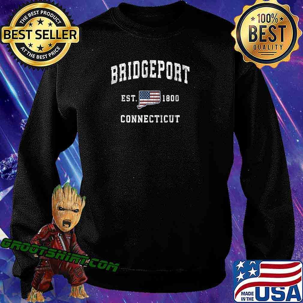 Bridgeport Connecticut CT Vintage American Flag Design T-Shirt Sweatshirt
