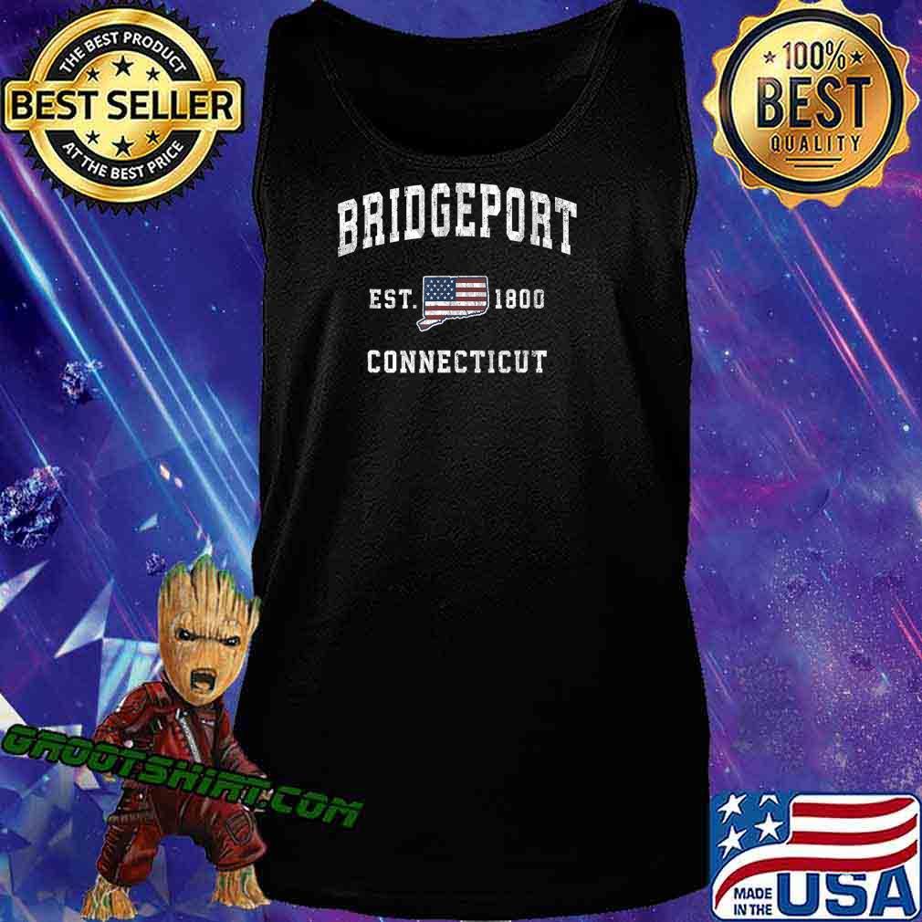 Bridgeport Connecticut CT Vintage American Flag Design T-Shirt Tank Top