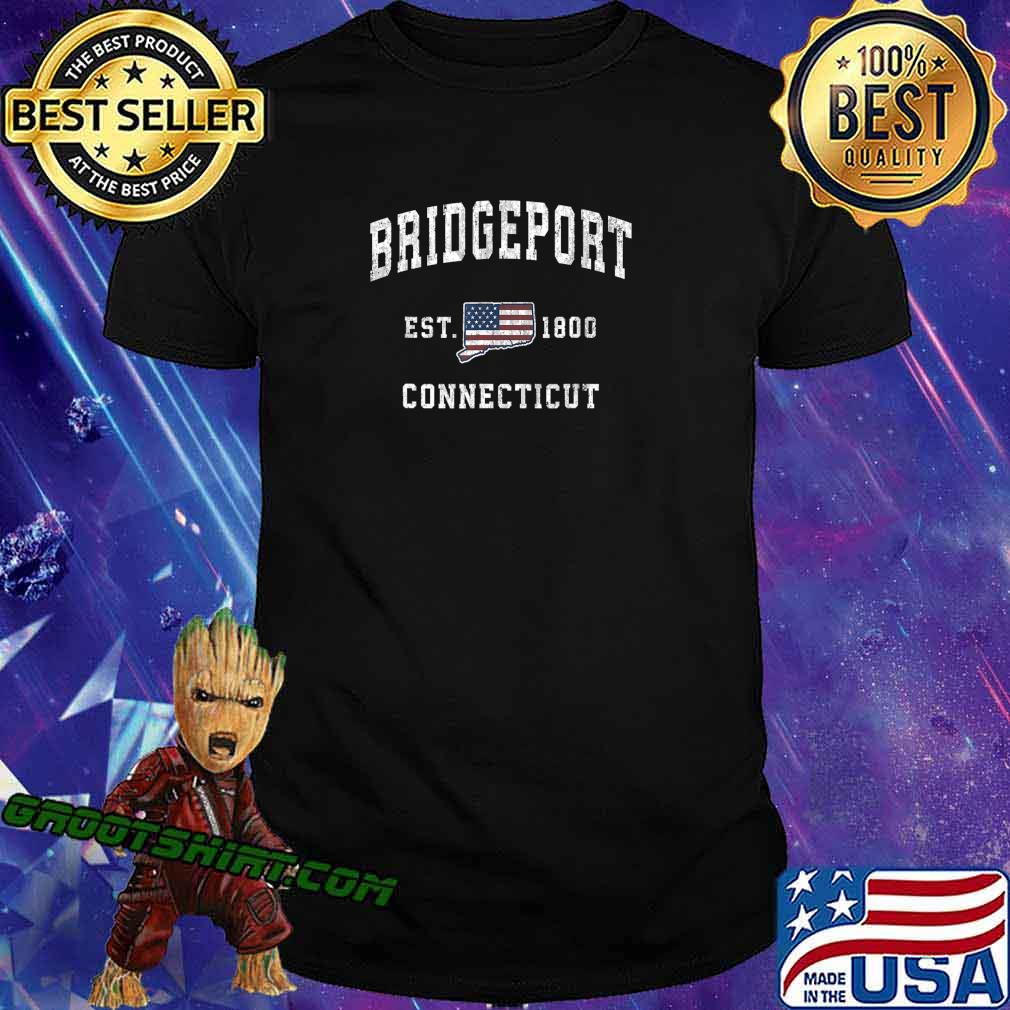 Bridgeport Connecticut CT Vintage American Flag Design T-Shirt