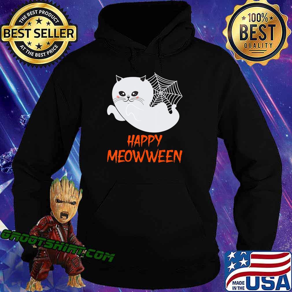 Cute Cartoon Ghost Kitty Halloween, Trick Or Treat Halloween T-Shirt Hoodie