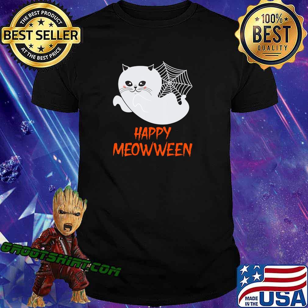 Cute Cartoon Ghost Kitty Halloween, Trick Or Treat Halloween T-Shirt