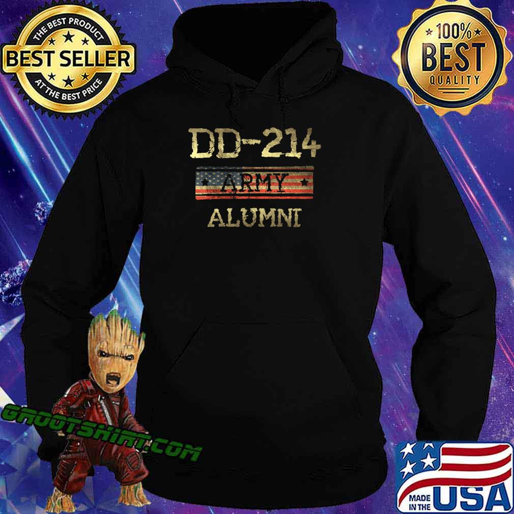 DD-214 US Army Alumni Vintage Veteran Retired Military Gift T-Shirt Hoodie