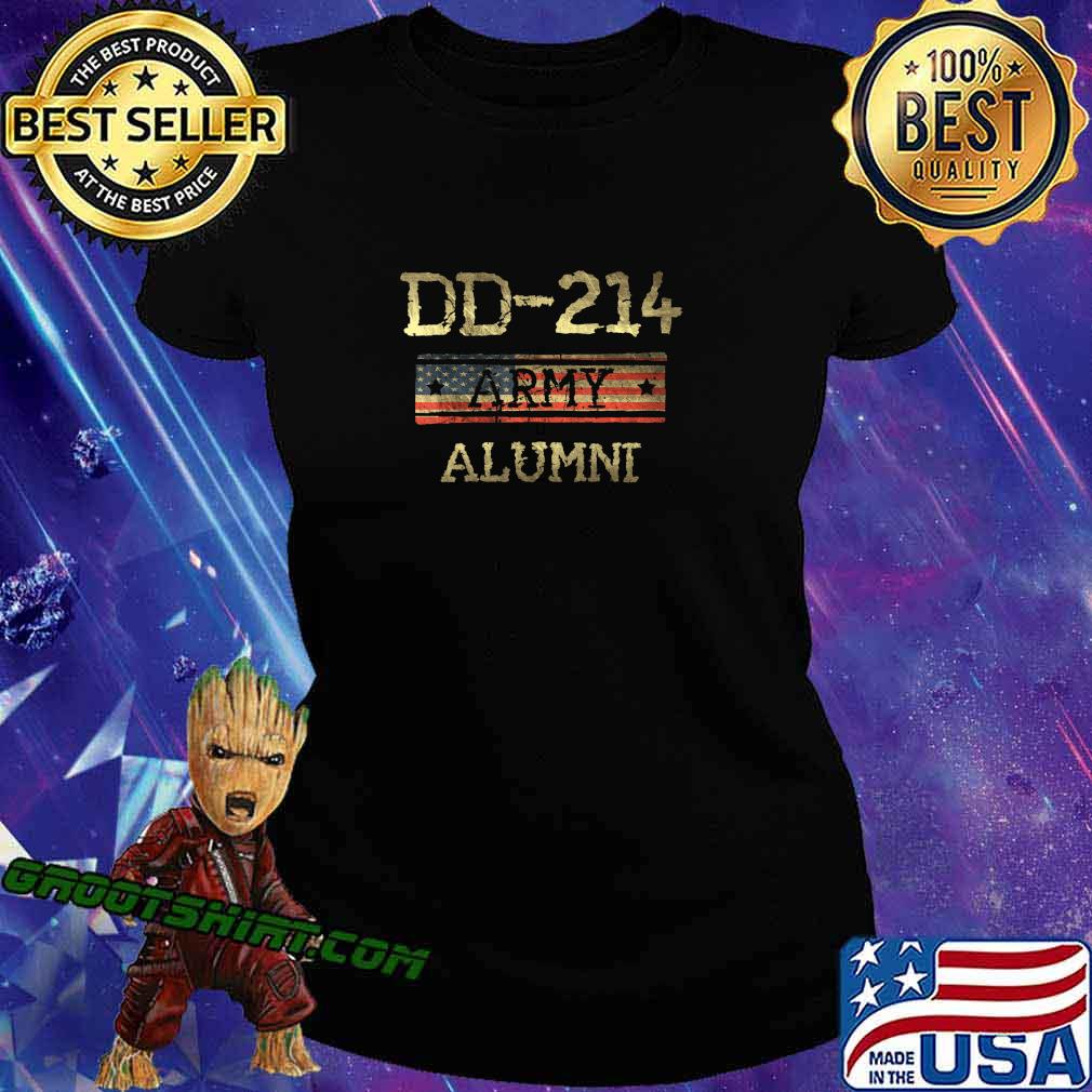 DD-214 US Army Alumni Vintage Veteran Retired Military Gift T-Shirt Ladiestee