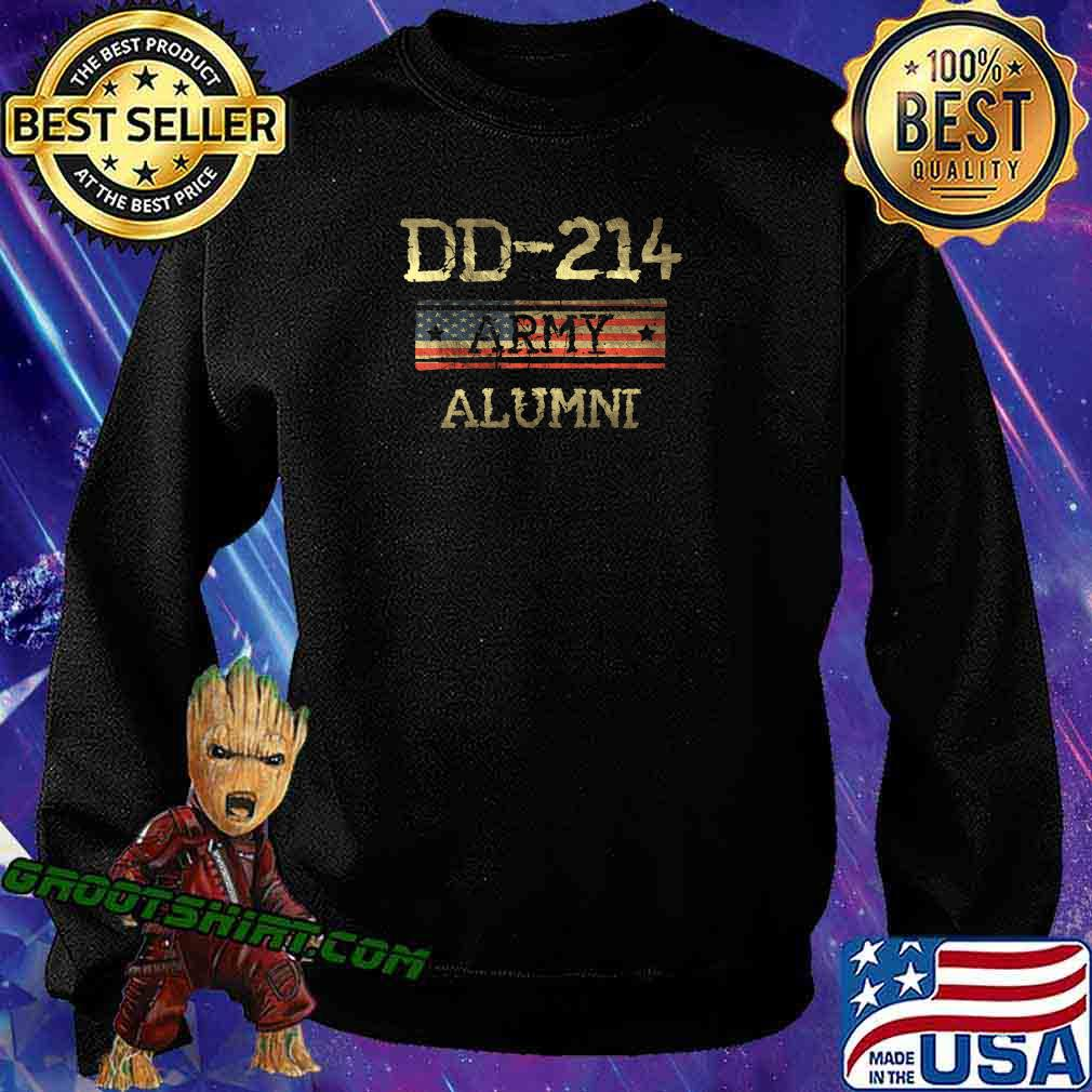 DD-214 US Army Alumni Vintage Veteran Retired Military Gift T-Shirt Sweatshirt