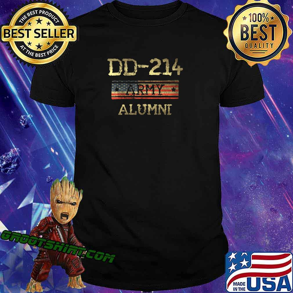 DD-214 US Army Alumni Vintage Veteran Retired Military Gift T-Shirt