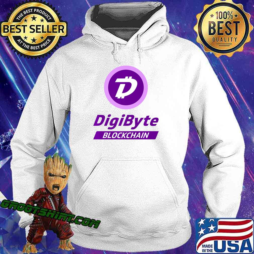 DigiByte T-shirt - Digi-ID Tshirt - DigiByte Coin Purple Premium T-Shirt Hoodie