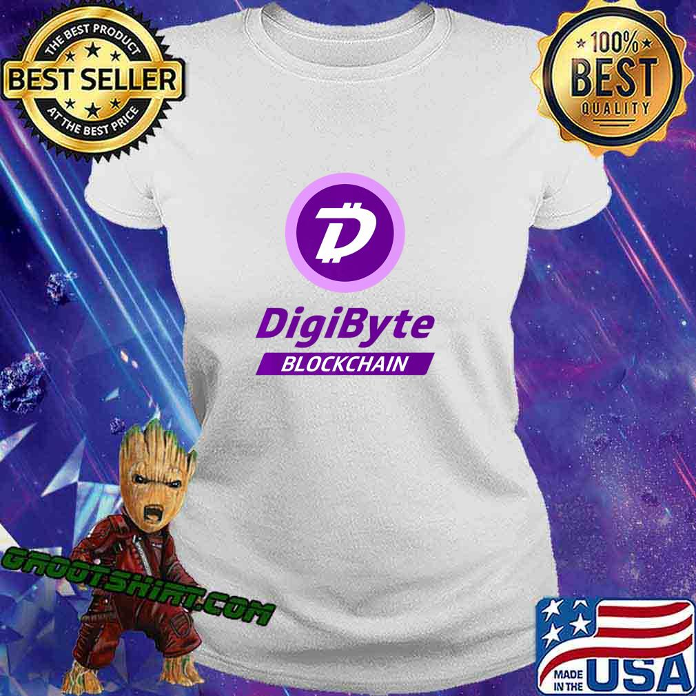 DigiByte T-shirt - Digi-ID Tshirt - DigiByte Coin Purple Premium T-Shirt Ladiestee