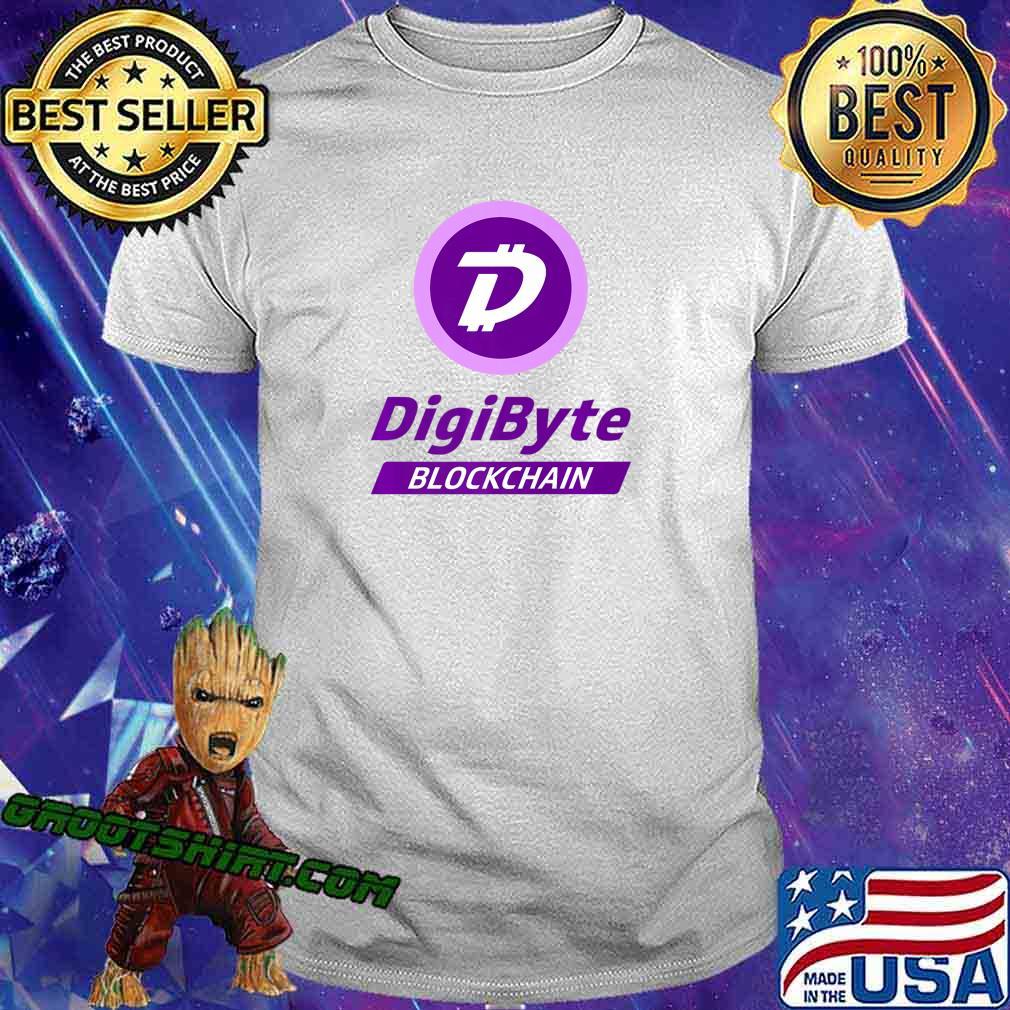 DigiByte T-shirt - Digi-ID Tshirt - DigiByte Coin Purple Premium T-Shirt