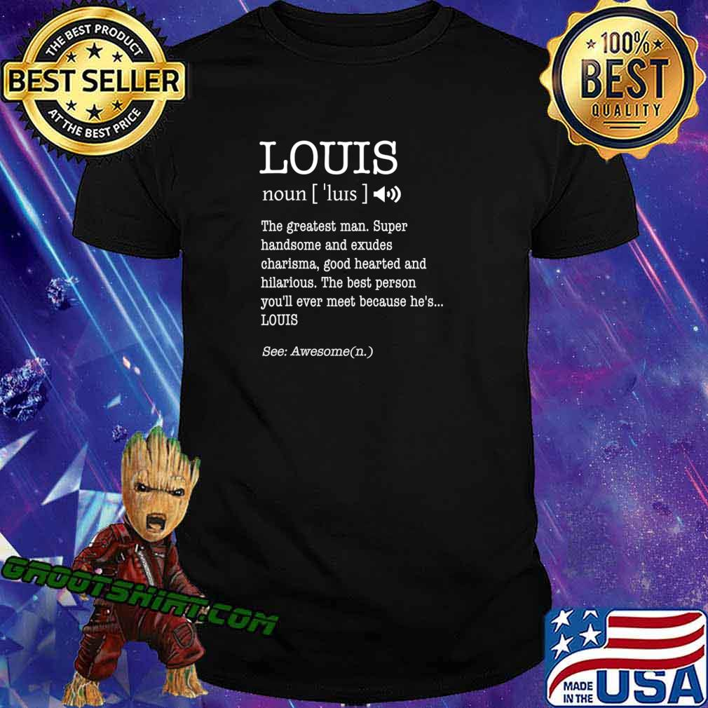 First Name Louis Funny Adult Definition Men's Personalized T-Shirt