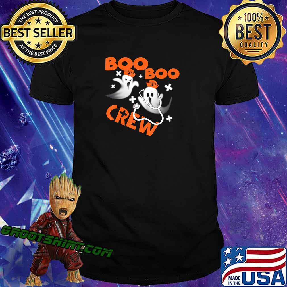 Funny Halloween Pumpkin Tee Gifts Boo Boo Crew Ghost Nurse T-Shirt