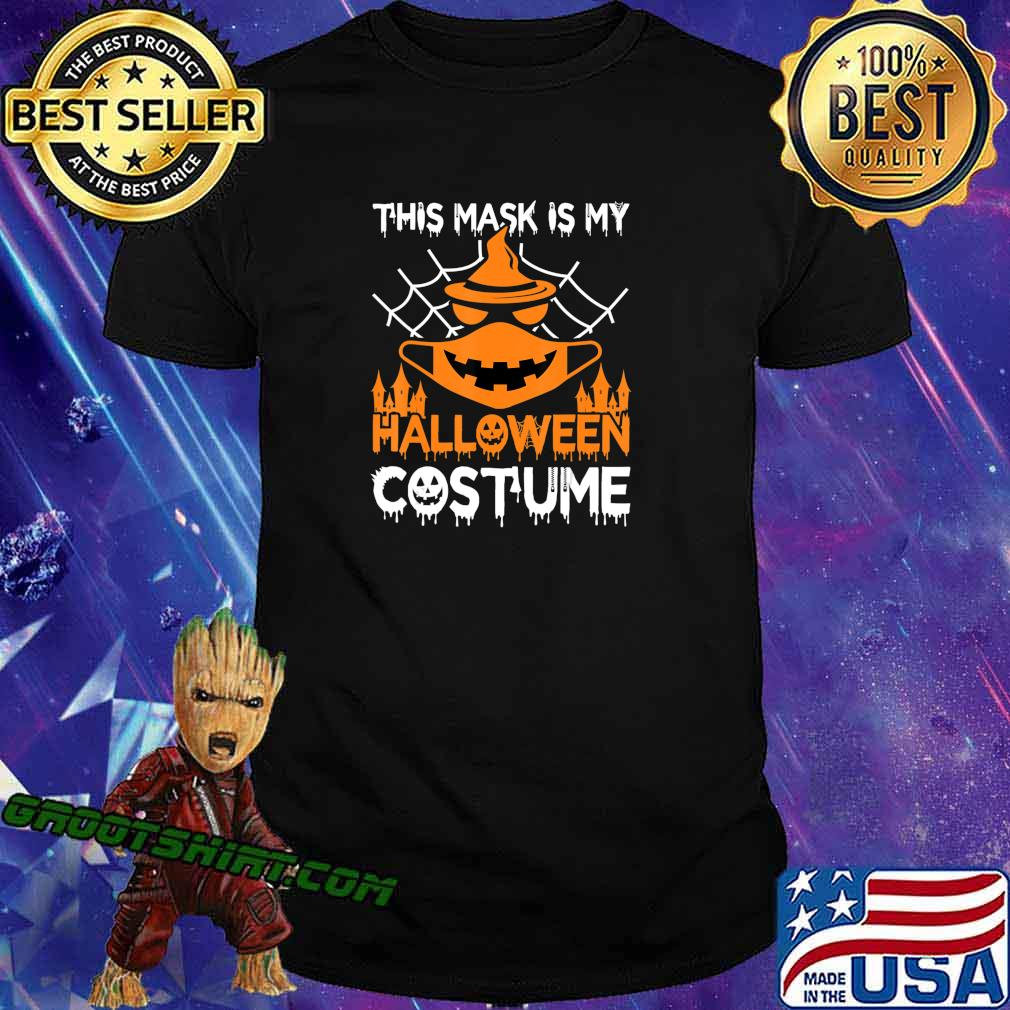 Funny Halloween Witch Jack O Lantern wearing a mask 2020 T-Shirt