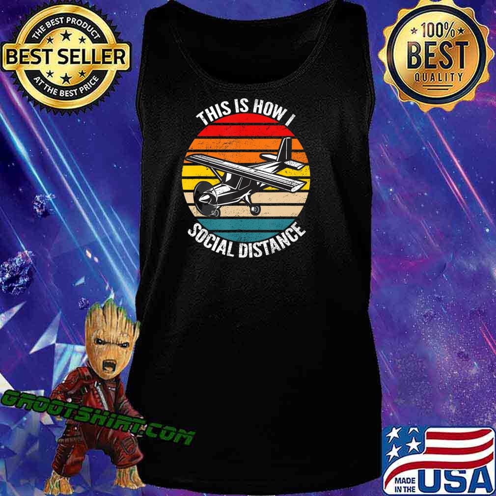 Funny Retro Vintage Airplane Aviation Pilot Gift T-Shirt Tank Top