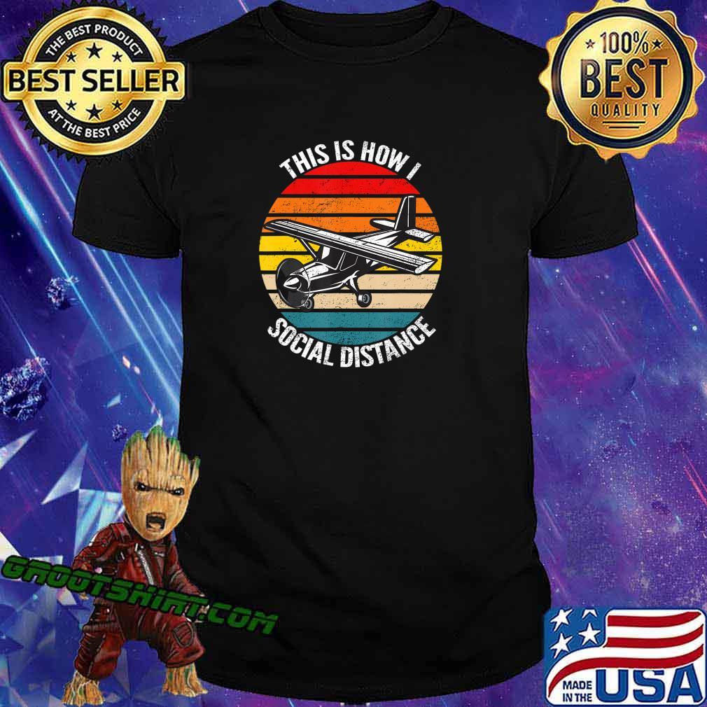 Funny Retro Vintage Airplane Aviation Pilot Gift T-Shirt