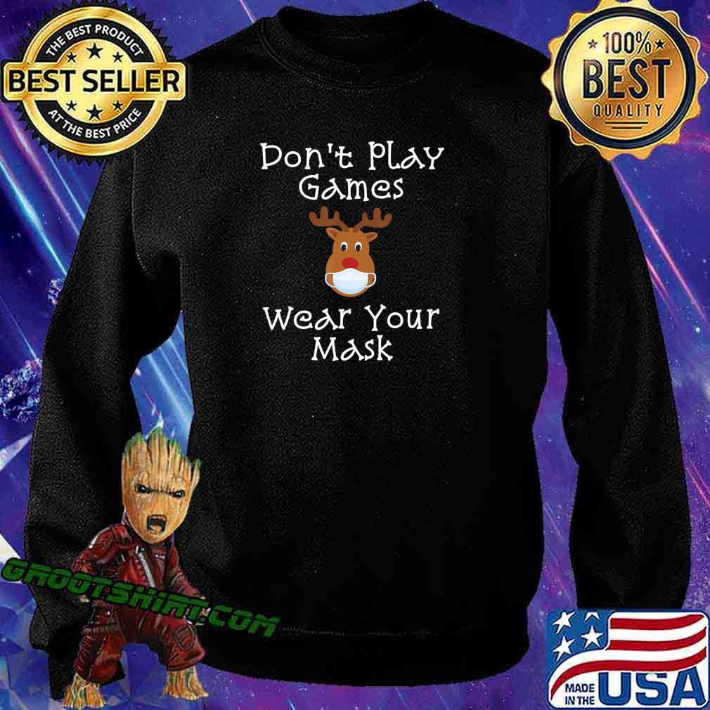 Funny Rudolph Christmas 2020 Wear Your Mask Matching Gift T-Shirt Sweatshirt