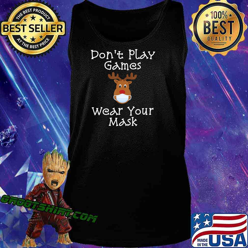 Funny Rudolph Christmas 2020 Wear Your Mask Matching Gift T-Shirt Tank Top