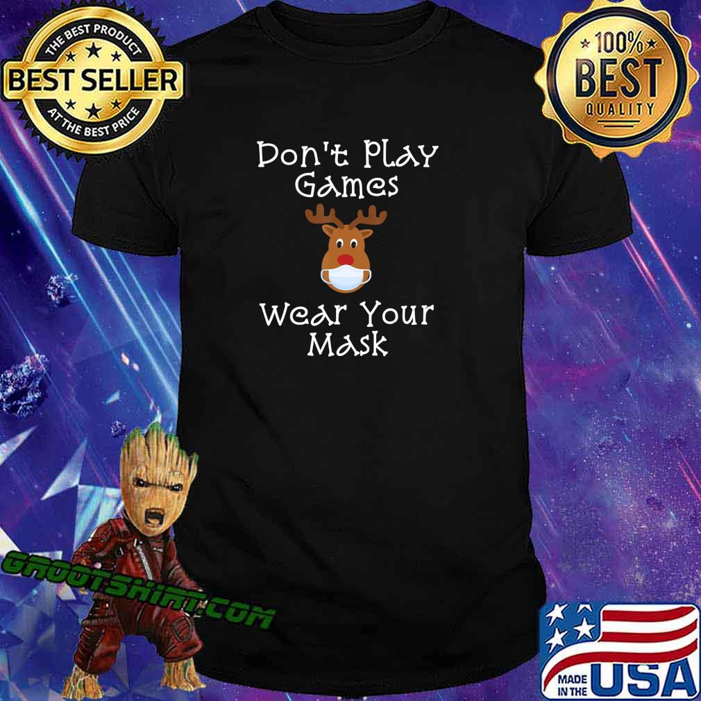 Funny Rudolph Christmas 2020 Wear Your Mask Matching Gift T-Shirt