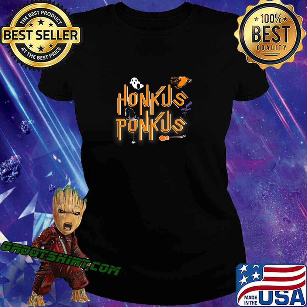 Honkus Ponkus Shirt Goose Halloween costume witch hat tshirt T-Shirt Ladiestee