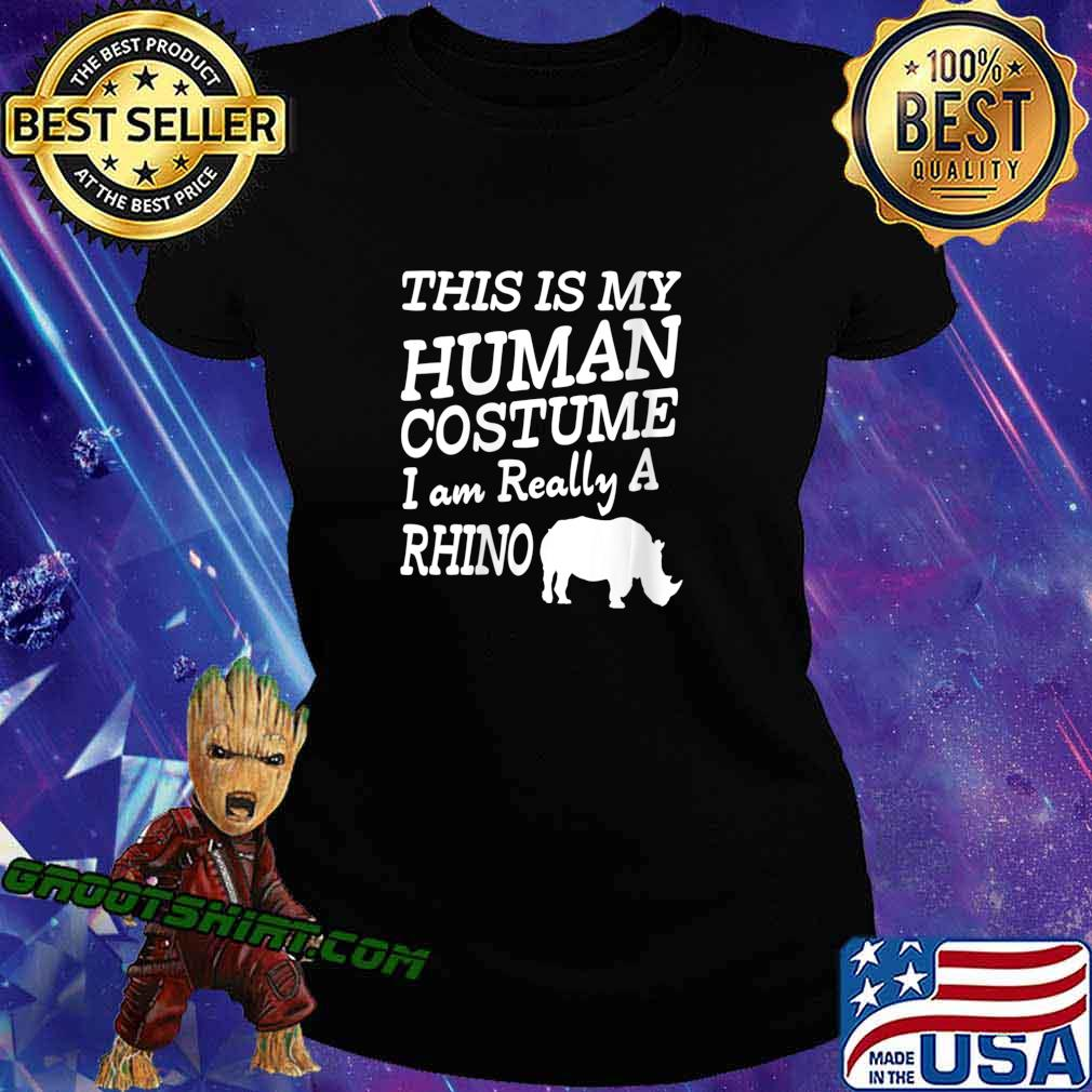 Human Costume - Chubby Rhino Unicorns Halloween Apparel Shirt Ladiestee