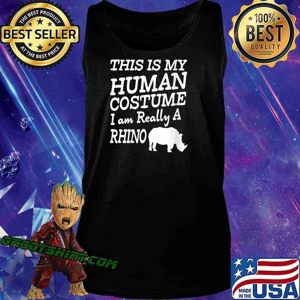 Human Costume - Chubby Rhino Unicorns Halloween Apparel Shirt Tank Top