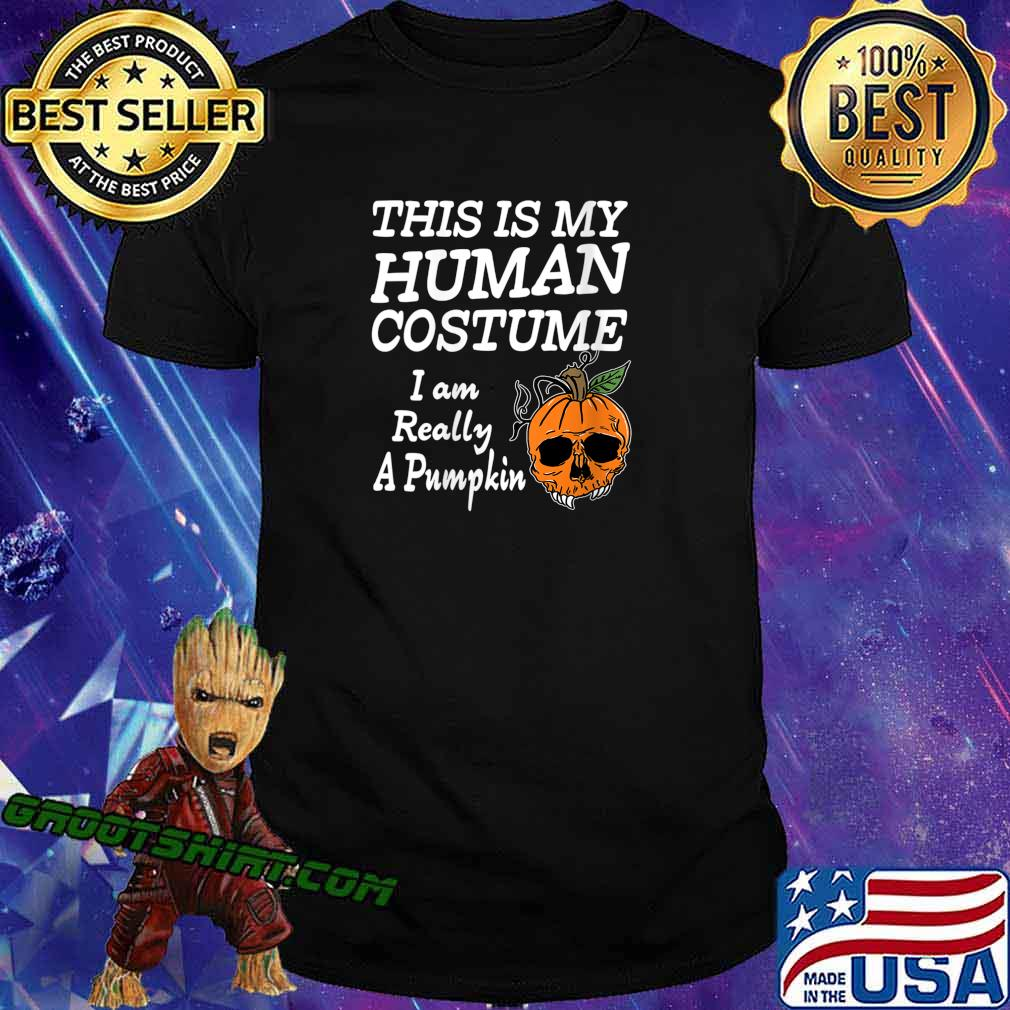 Human Costume Pumpkin Halloween Apparel Design Shirt